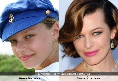 Анна Келина похожа на Милу Йовович
