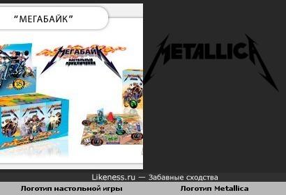 "Логотип игры ""Мегабайк"" похож на логотип группы Metallica"