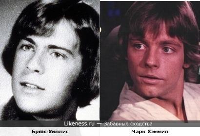 Брюс Уиллис и Марк Хеммил в молодости были похожи