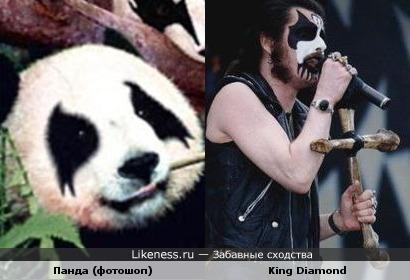 Отфотошопленная панда похожа на Кинга Даймонда