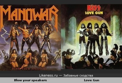 Обложка сингла группы Manowar похожа на обложку альбома Kiss