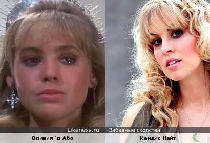 Актриса Оливия`д Або в молодости была похожа на жену Ричи Блэкмора