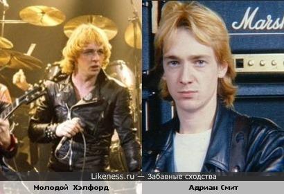 Вокалист Judas Priest и гитарист Iron maiden в молодости были похожи