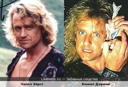 Актёр Майкл Хёрст похож на гитариста группы Judas Priest