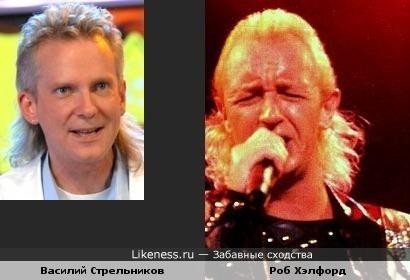Василий Стрельников и вокалист группы Judas Priest похожи причёсками