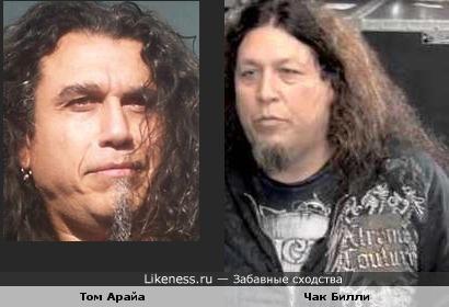 Два известных представителя американского треш-метала немного похожи