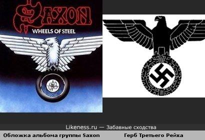 Обложка альбома группы Saxon похожа на герб Третьего Рейха