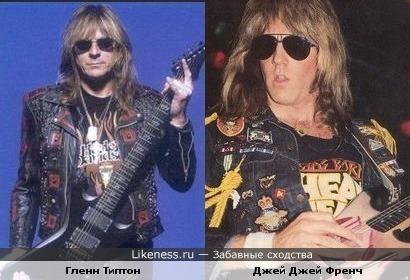 В очках Гленн Типтон (Judas Priest) и Джей Джей Френч (Twisted Sister) становятся похожи