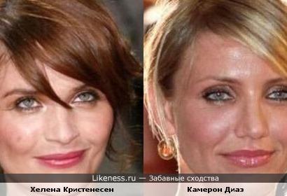 Елена Кристенсен похожа на Камерон Диаз