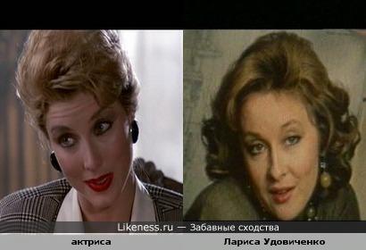 Актриса из фильма Полицейский из Беверли Хиллз 2 похожа на Ларису Удовиченко