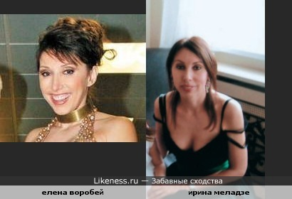 в таком ракурсе Ирина Меладзе похожа на Елену Воробей