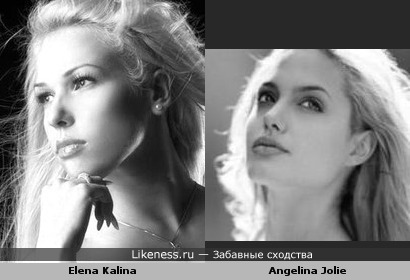 Elena Kalina looks like Angelina Jolie! Fantastic!