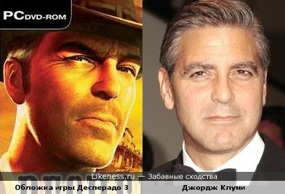 Джордж Клуни на обложке игры Десперадо 3