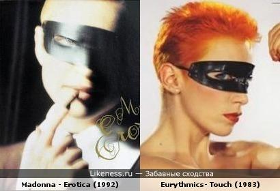 Обложки альбомов Eurythmics и Мадонны похожи