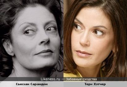 Сьюзан Сарандон и Тери Хэтчер похожи