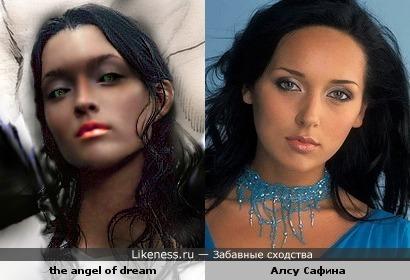 Девушка-ангел очень похожа на Алсу