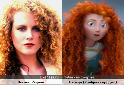 Мерида похожа на молодую Николь Кидман