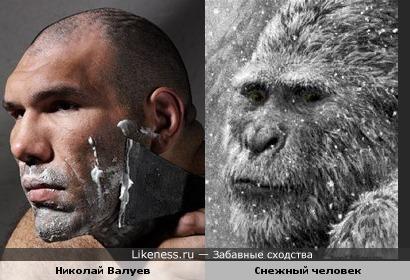 Николай Валуев смахивает на бритого снежного человека