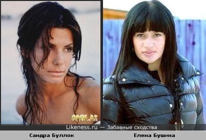 Елена Бушина похожа на Сандру Буллок