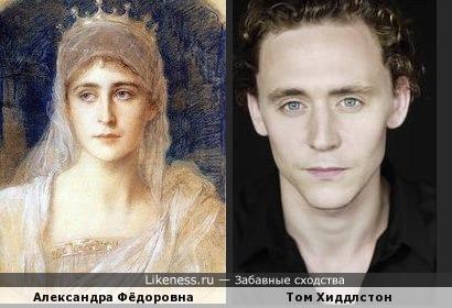 Том Хиддлстон похож на императрицу Александру Фёдоровну