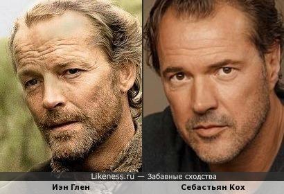 Два известных европейских актера очень похожи