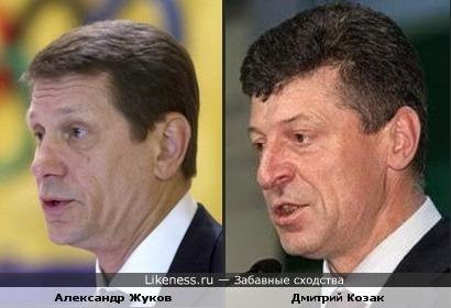 Вице-премьер Александр Жуков и полпред в Южном фед. округе Дмитрий Козак