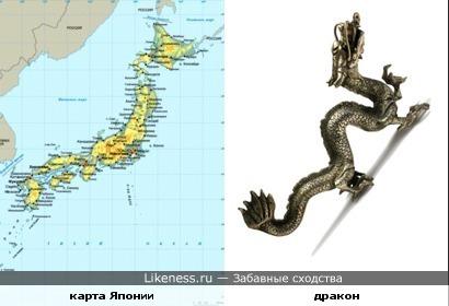 Очертаниями Япония похожа на дракона