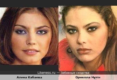 Алина Кабаева похожа на Орнеллу Мутти в молодости