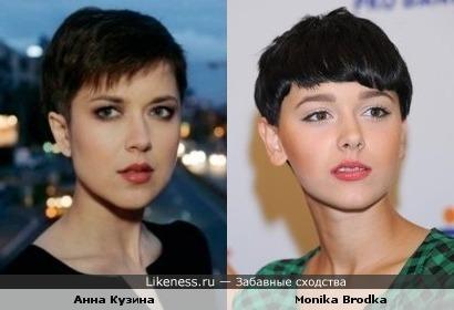 Анна Кузина похожа на польскую певицу