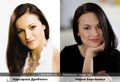 Фигуристка Маргарита Дробязко похожа на актрису Марию Берсеневу