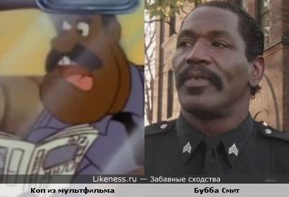 """Полицейский из мультфильма """"Чип и Дейл спешат на помощь"""" похож на Хайтауэра из """"Полицейской академии"""""""