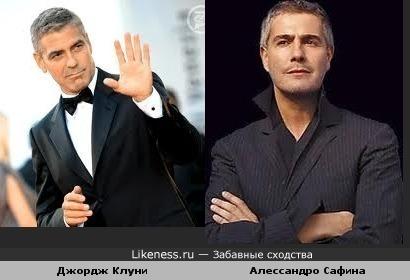 Алессандро Сафина похож на Джорджа Клуни
