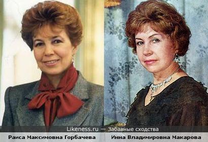 Раиса Максимовна Горбачева и Инна Владимировна Макарова