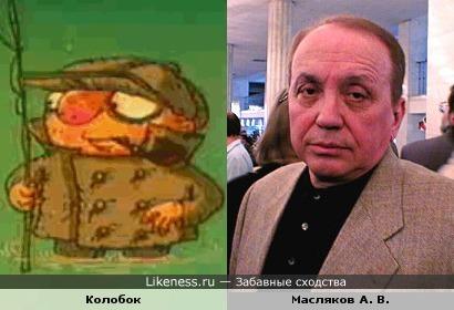 Колобок похож на Маслякова А. В.