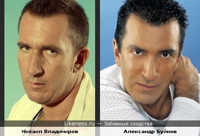Михаил Владимиров и Александр Буйнов похожи
