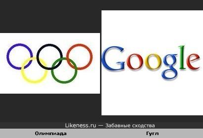 Логотип Олимпиады похож на Гугл