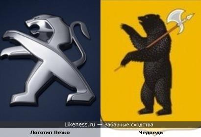 Обновленный логотип Пежо похож на мишку