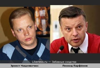 Журналист Эрнест Мацкявичюс(который эфир с Путиным вёл) и Леонид Парфенов
