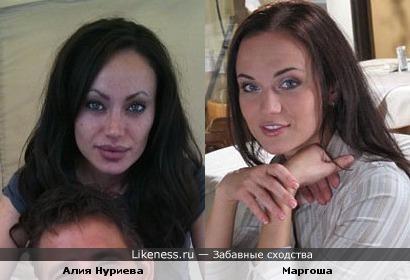 Маргоша похожа на двойника Джоли