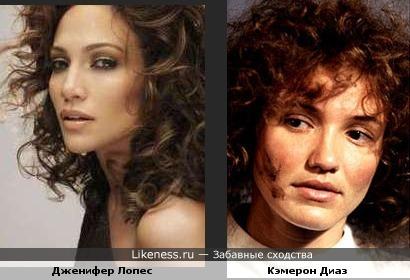 Кэмерон Диаз в этом образе похожа на Дженифер Лопес.