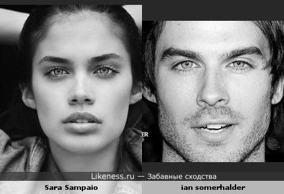 Sara очень похожа на Ian Somerhalder