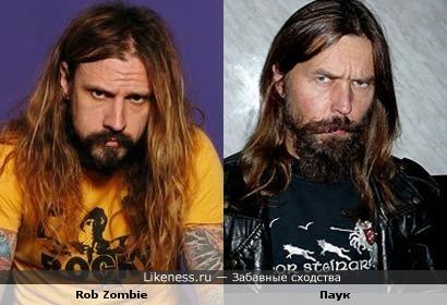 Rob Zombie похож на Паука