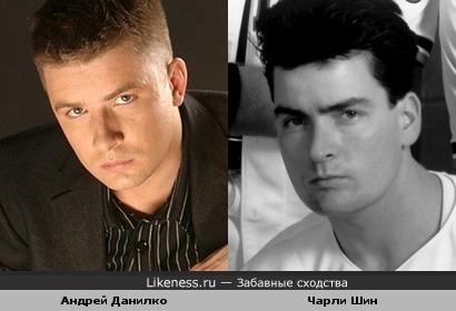 Андрей Данилко похож на Чарли Шина