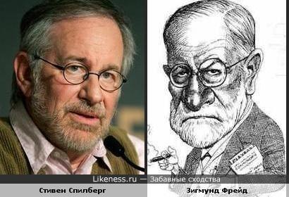 Карикатура на Зигмунда Фрейда получилась похожа на Стивена Спилберга