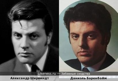 Даниэль Баренбойм и Александр Ширвиндт