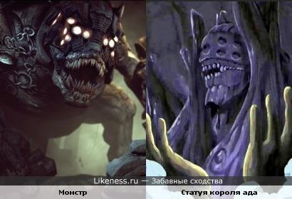 Статуя короля ада напоминает монстра из какой-то игры