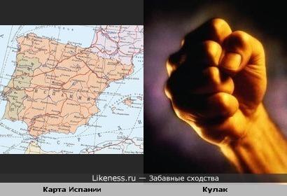 Карта Испании похожа на кулан