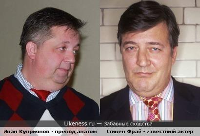 Иван Куприянов похож на Стивена Фрая