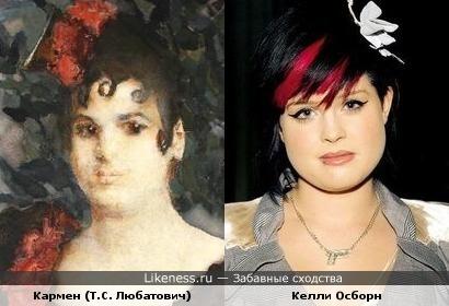 Келли Осборн была похожа на портрет актрисы конца XIX в.