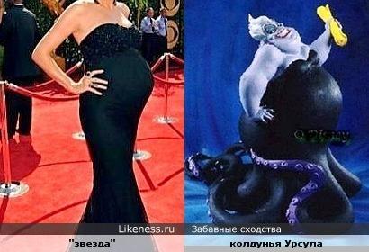"""Беременная """"звезда"""" на красной ковровой дорожке напомнила Урсулу из """"Русалочки"""" (против беременных ничего не имею)"""